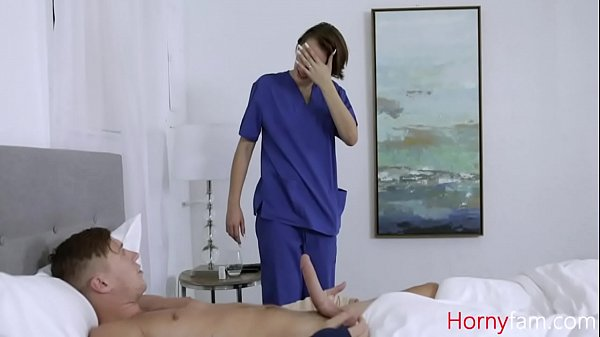 Nurse Hot Sister Helps Brother With His Blue Ba...
