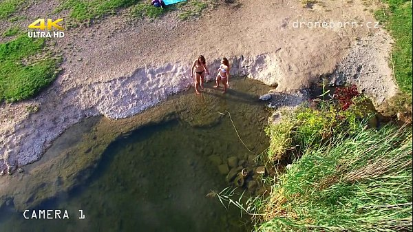 Naked college girls - Voyeurs drone porn from C...