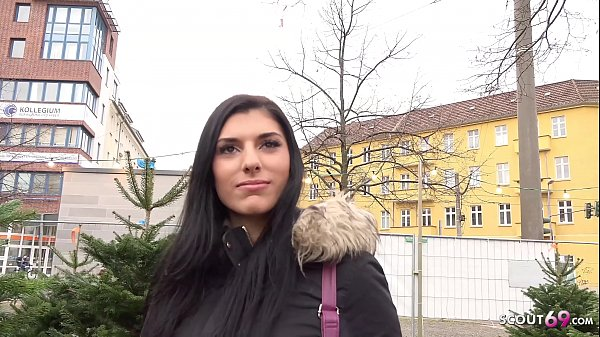 GERMAN SCOUT - Cute 20yr old Teen Kristall Pickup and Fuck by Real Street Casting