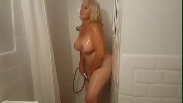 Showering with Mrs. Fina! BUSTY GILF loves bein...