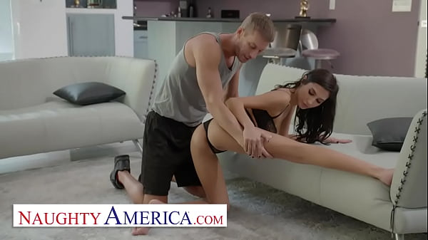 Naughty America - Gianna Dior gets worked OUT and stretched HARD by her married trainer