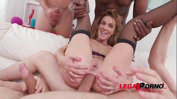 Alexis Crystal amazing DAP & DP with four cocks