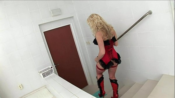 Cindy fucking in red fishnet nylon and a corset Thumb