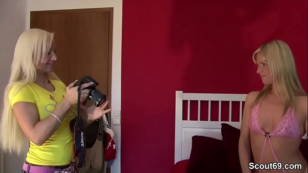 German Female Agent in Real Lesbian Casting wit...