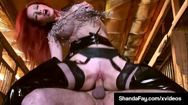 Canadian Cowgirl Shanda Fay Rides Her Pony Until He Cums