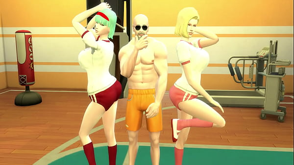 Perverted Master Roshi Trains Bulma and Number ...