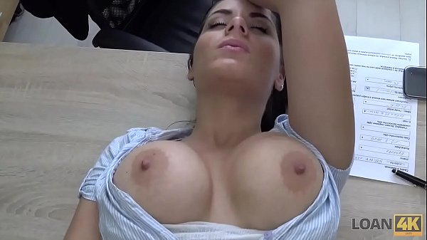 LOAN4K. Big-breasted hottie satisfies man to ge...