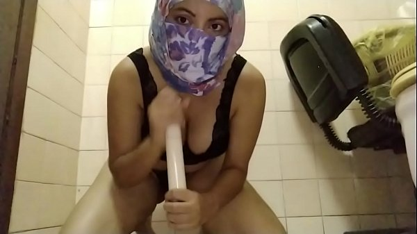 Real Muslim Arab Mom in Hijab Dildo Riding Hard...