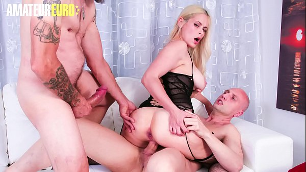 AMATEUR EURO - Hot Babe Vittoria Dolce Handle Two Dicks In Casting Thumb