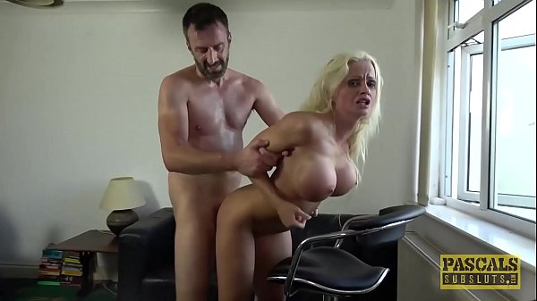Busty British bimbo drilled hard in all of her holes Thumb