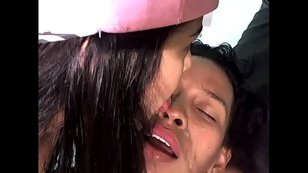 Licking Cum From Her Friend's Face