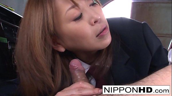 Sexy Japanese driver gives her boss a blowjob Thumb