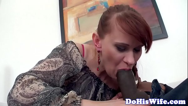 Married redhead babe creampied by bbc