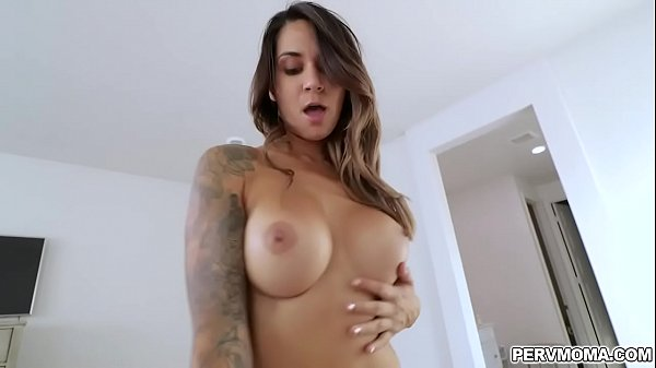Alexis Zara serving her stepsons cock and rides on top of him as she cums multiple times on his young rod