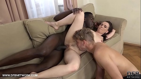 Cuck husband pleasuring his wife with a black m...
