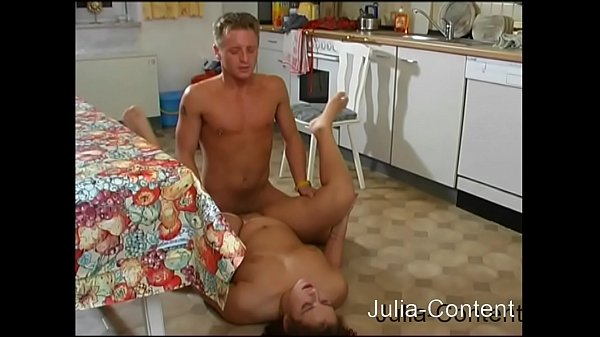 Couple fucked in kitchen