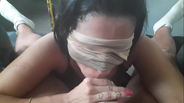 Shorty sucking brunette's cock on the bus - Part 2