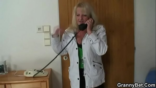 Granny jumps on my horny cock