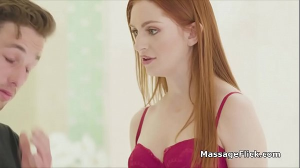 Teen red head masseuse gags on clients cock Thumb
