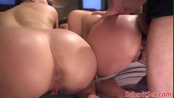 BDSM subs ass fucked doggystyle by maledom
