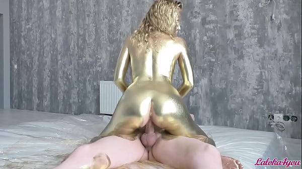 Paints Herself and Rides a Cock - Deepthroat and Doggystyle Fuck - Laloka4you