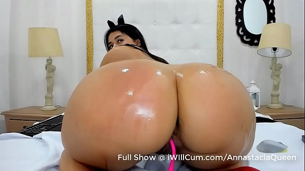 Latina With Huge Bubble Butt Works Her Pussy To a Creamy Mess