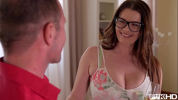 Ultra Hot & Busty Secretary in Glasses Rides a ...