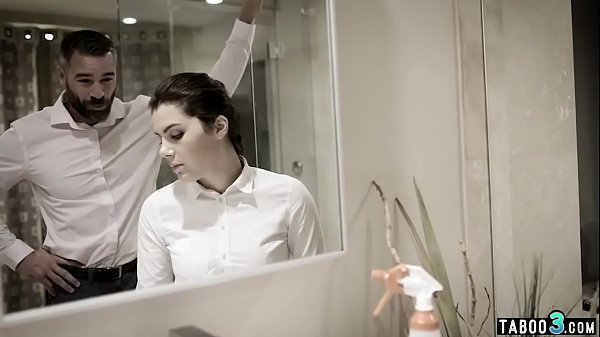 Wealthy man intimidates his maid into nude cleaning  thumbnail