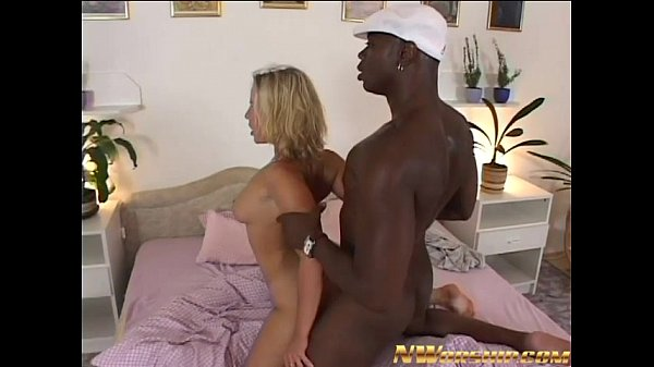 hot blonde fucked by a big black dick for inter...