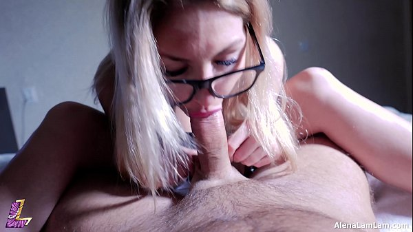 MILF Footjob and Long Cumshot, Tasty Blowjob, 4K (Ultra HD) - Alena LamLam
