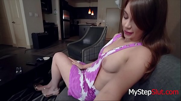 Kayla Paris Gives Daddy A Harmless BJ while s. on his lap