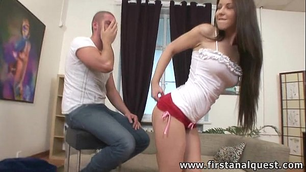 FirstAnalQuest.com - ANAL SEX GAMES WITH A TIGHT ASS TEENAGE RUSSIAN CUTIE