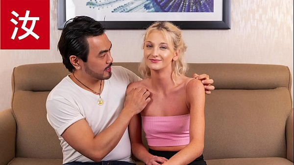 Asian Guy Makes Dick Pounding Delivery for Hungry Petite White Girl AMWF - BananaFever Thumb