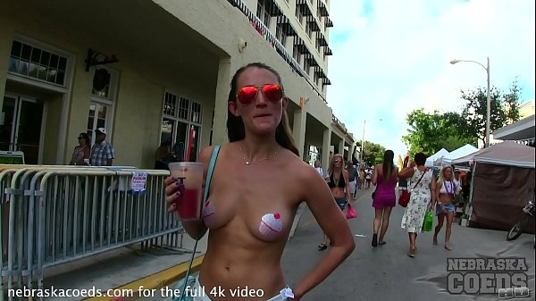nude girls with only body paint out in public on the streets of fantasy fest 2018 key west florida