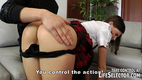 The bad schoolgirl gets spanking and anal Thumb