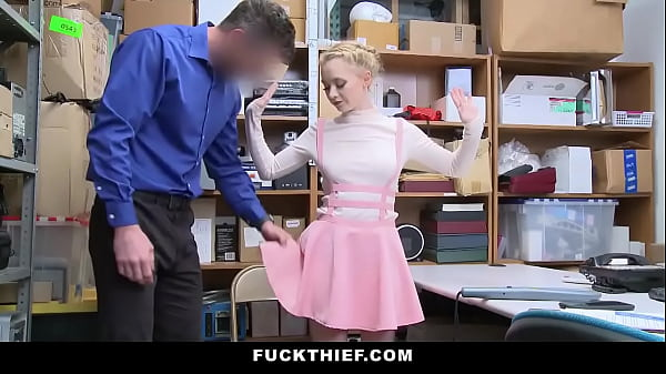 Shoplifter Teen Fucked In Security Room As Punishment