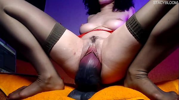Girlfriend Fucks Herself With Dragon Dick And Fingering Pussy With Vibrator - Huge Toys Session
