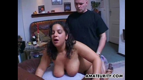 Chubby and busty amateur Milf action with facial