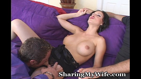 Opening My Wife's Legs To New Cock