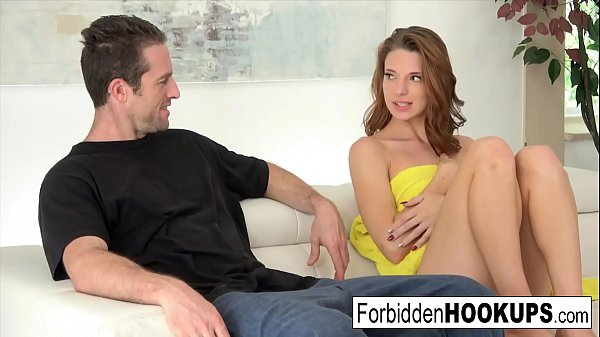 Delivery guy hooks up with his step sister!