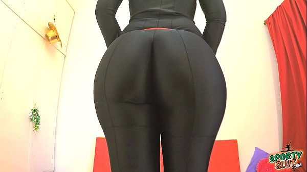 BEST ASS 2015! Working Out in a Black BodySuit....