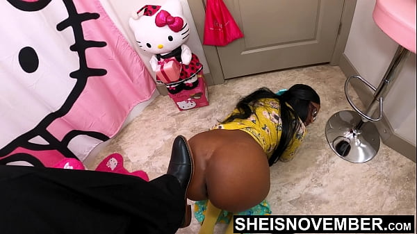 4k Msnovember Humiliated and Yanked Off Her Toilet and Degraded By Stepdad Slamming Shoe Into Her Back, Big Ass Stepdaughter In Pain From Daddies Assault on Sheisnovember by JDG Pornart