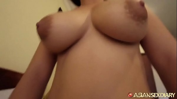Horny big boobs Asian fucks white guy she just met in Cambodia