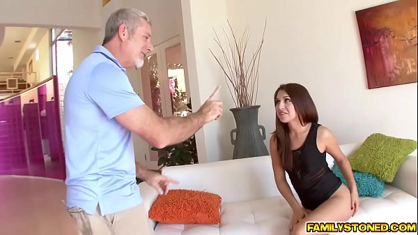 Step Dad stretching Ariana Grands tight pussy Thumb