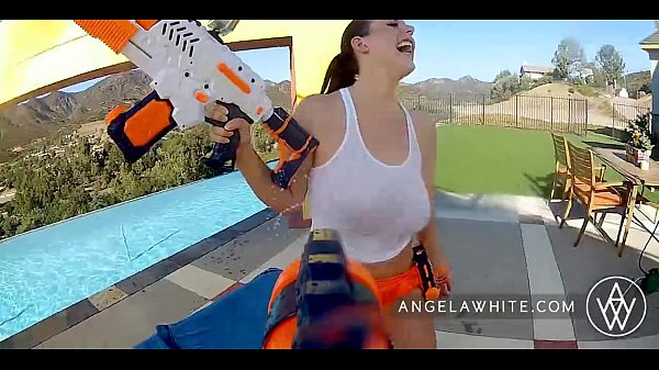 ANGELA WHITE - Angela White and Dani Daniel Fuck Each Other Outside