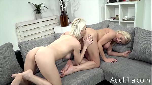Comfy Afternoon For Hot Blonde Lesbian Couple- Frannie, Zazie Skymm
