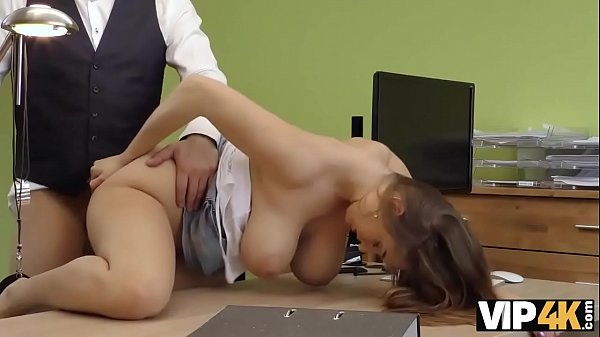 VIP4K. Agent drills juicy young pussy because g...