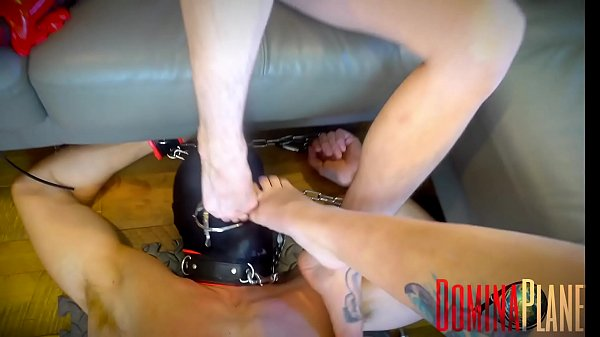 Gagged For Double Foot Gagging - 2 Blond Dominatrixes Foot Gag A Slave With Both Their Feet