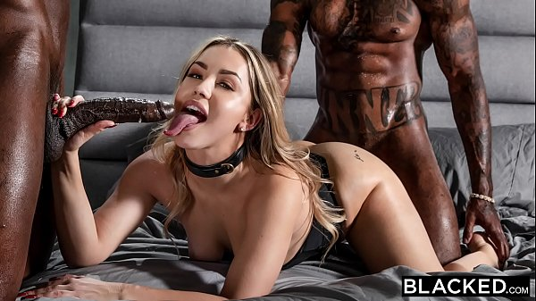 BLACKED Alina has rough kinky sex with 2 huge BBCs