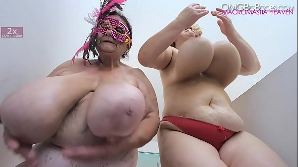 two older ladies swing massive tits
